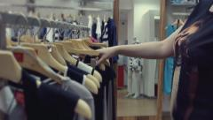 shopping, selection of clothes in a boutique - stock footage