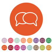 The speech bubbles icon. Talk symbol. Flat - stock illustration
