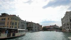 POV of Grand Chanal tour in Venice Italy. Stock Footage