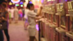 Buying tasty ice cream cone Stock Footage