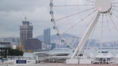 From Hong Kong big wheel to breakage yard 4K Stock Footage