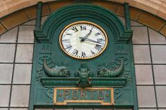 Main hall of Sao Bento Railway Station in Porto city, Portugal - stock photo