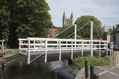 Kennet & Avon Canal at Newbury West Berkshire England UK  Swing bridge openin Stock Photos