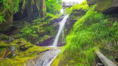 Grotto and waterfall in Italy, timelapse Stock Footage