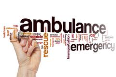 Ambulance word cloud concept Stock Photos