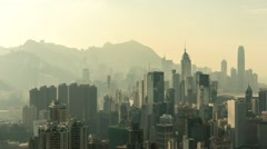 City Skyline in China with Pollution Timelapse - stock footage