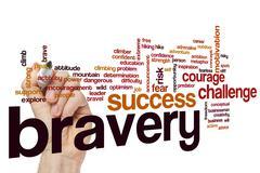 Bravery word cloud concept - stock photo