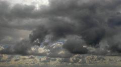 Dark dramatic thundercloud on summer day Stock Footage