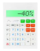 Calculator with -40 Stock Photos