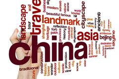 China word cloud concept - stock photo
