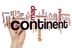 Continent word cloud concept - stock photo