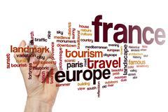 France word cloud concept Stock Photos