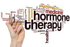 Hormone therapy word cloud - stock photo