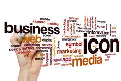 Icon word cloud concept Stock Photos