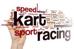 Kart racing word cloud Stock Photos