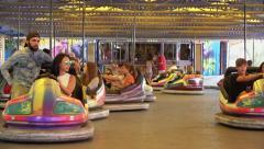 Time Lapse Bumper Cars / Dodgems - 60fps Stock Footage