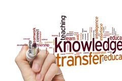 Knowledge transfer word cloud - stock photo