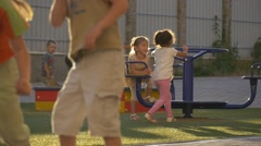 Multi-Ethnic Kids, Children at The Playground, Yard, Playing at the Sand Box, Stock Footage