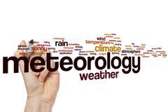 Meteorology word cloud - stock photo