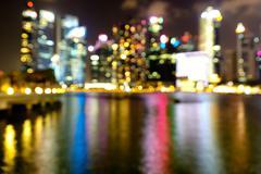 Abstract circular lights blurred bokeh background. Stock Photos