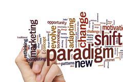 Paradigm shift word cloud - stock photo