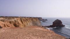 Algarve Coast, Portugal - Pan Stock Footage