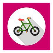 Bicycle icon - stock illustration