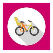 Bicycle with child seat - stock illustration