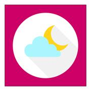 Cloudy at night Stock Illustration