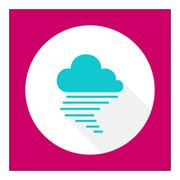 Cloudy with fog - stock illustration