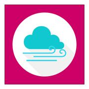 Cloudy with slight wind Stock Illustration