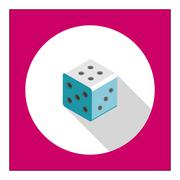 Dice icon - stock illustration