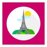 Eiffel tower - stock illustration