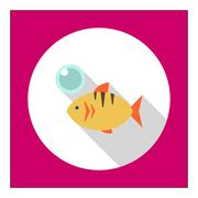 Fish icon Stock Illustration