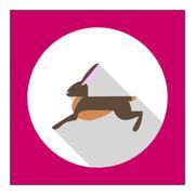 Hare icon - stock illustration