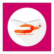 Helicopter icon - stock illustration