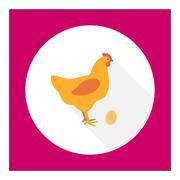 Hen icon Stock Illustration