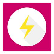 Lightning icon Stock Illustration