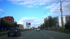 Russia, Novosibirsk. 21 september 2015. Cityscape and sky background with clouds Stock Footage