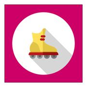 Roller blade icon - stock illustration