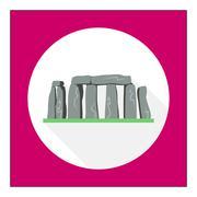 Stonehenge icon - stock illustration