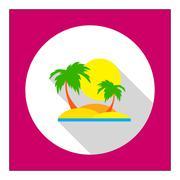 Tropical island Piirros