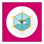 Video surveillance icon Stock Illustration
