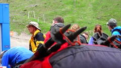 Stop moment you are beautiful. Elbrus. Eco travel. Stock Footage