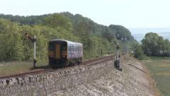 Cumbrian Coast Semaphore Signals Stock Footage