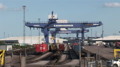 Port of Felixstowe Container Terminal Stock Footage