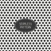 Geometric monochrome hipster seamless pattern with rhombus, square. Wrapping - stock illustration
