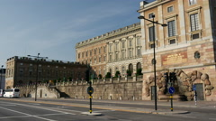 The Royal Palace in Stockholm Sweden Stock Footage