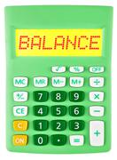 Calculator with BALANCE on display - stock photo