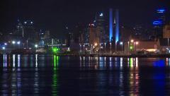 CBD Skyline Water Reflection (Timelapse) Stock Footage